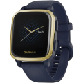 Ceas smartwatch Garmin Venu Sq Music Edition Captain Blue/Light Gold