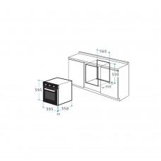 Cuptor electric Pyramis 60IN 2040 Negru