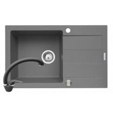Set chiuveta granit SPARTA PLUS & baterie OSSIA – Grey