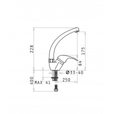 Set chiuveta KORFU 62x46 1B1D & baterie OSSIA - Grey
