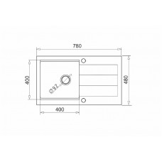 Set chiuveta granit SPARTA PLUS LUX, baterie FIDO & Tocator – Gri