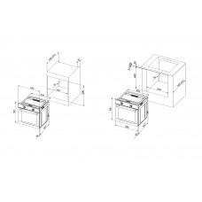 Pachet Pyramis BASIC SL PLUS cuptor electric+plita + hota