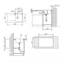 Chiuveta pentru bucatarie soft compozit Pyramis Level Artithek 1B1D DR