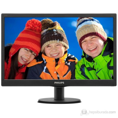 Monitor LED Philips  193V5LSB2/62 Hd Ready  Black