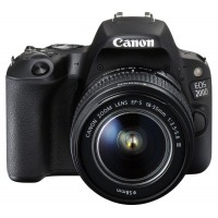 Camera foto Canon DSLR EOS 200D BLACK + EF-S 18-55mm Black