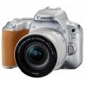 Camera foto Canon DSLR EOS 200D SILVER + EF-S 18-55 IS Black Full HD