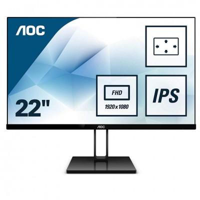 Monitor LED AOC 22V2Q FHD Black