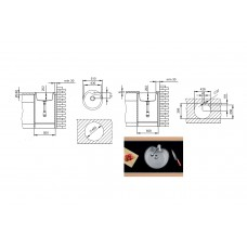 Set Pyramis chiuveta soft compozit Round Durothek Bej + Baterie