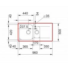 Chiuveta pentru bucătărie soft compozit Pyramis Level DUROTHEK 1 1/2B 1D ST