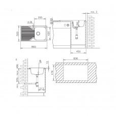 Chiuveta pentru bucatarie soft compozit Pyramis Stripe Durothek 1B1D ST