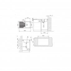Chiuveta pentru bucătărie soft compozit Pyramis Stripe DUROTHEK 1B1D DR ALB