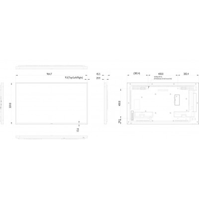 Display Profesional LFD 43BDL4050D/00 Full Hd
