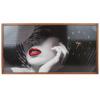 Tablou cu ceas inramat Heinner HR-F728-50/100 Red Lips