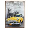 Tablou cu ceas inramat Heinner HR-FA910-70/100 Yellow Chevy