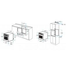 Pachet Pyramis Rustic Smartline cuptor electric + plita Bej