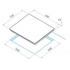 Pachet Pyramis SMARTLINE BASIC cuptor electric + plita gaz
