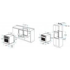 Pachet Pyramis  SMARTLINE BLACK cuptor electric + plita gaz