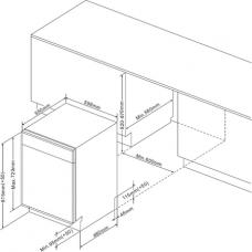 Masina de spalat vase incorporabila Hansa ZIM634B 12 seturi