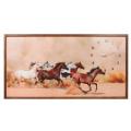 Tablou cu ceas inramat Heinner HR-F727-50/100 Horses
